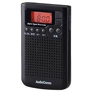 オーム電機 AudioComm AM/FM DSPポケットラジオ(ブラック)オーディオコム RAD-F300N-K(07-8157)