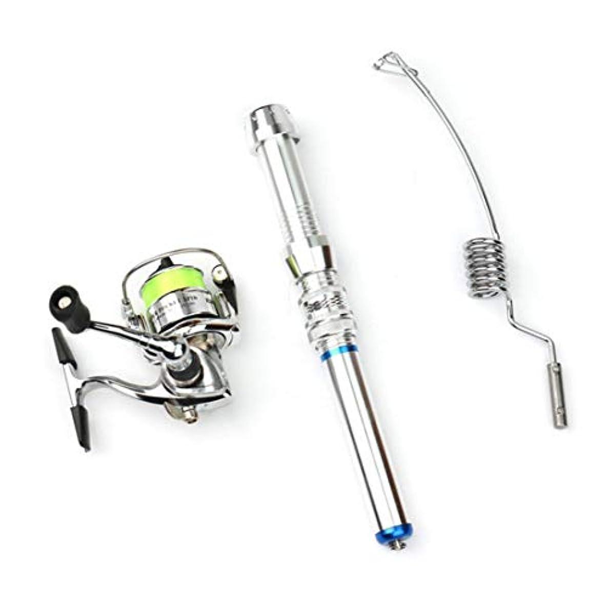 トリクル通常成果ノウ建材貿易 アルミニウムミニ引き込み式ポケットペン釣りロッドポールフィッシングリール (サイズ : 38cm)