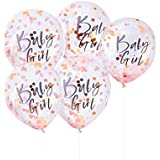 Pink Baby Girl Confetti Balloons - Twinkle Twinkle Range by Ginger Ray