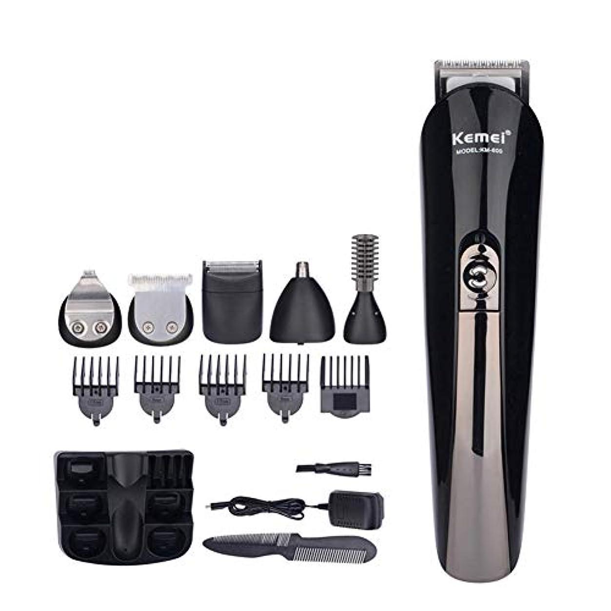 隔離するポルティコサンダースバリカン6で1ヘアトリマー充電式チタン電気シェーバー髭トリマー男性スタイリングツールシェービングマシン