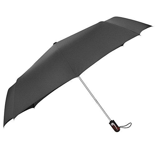 PLEMO 折り畳み傘 ワンタッチ自動開閉折りたたみ傘 8本骨 128センチ 大きな傘 高強度グラスファイバー 耐強風 210T高密度NC布製 収納ケース付 ブラック