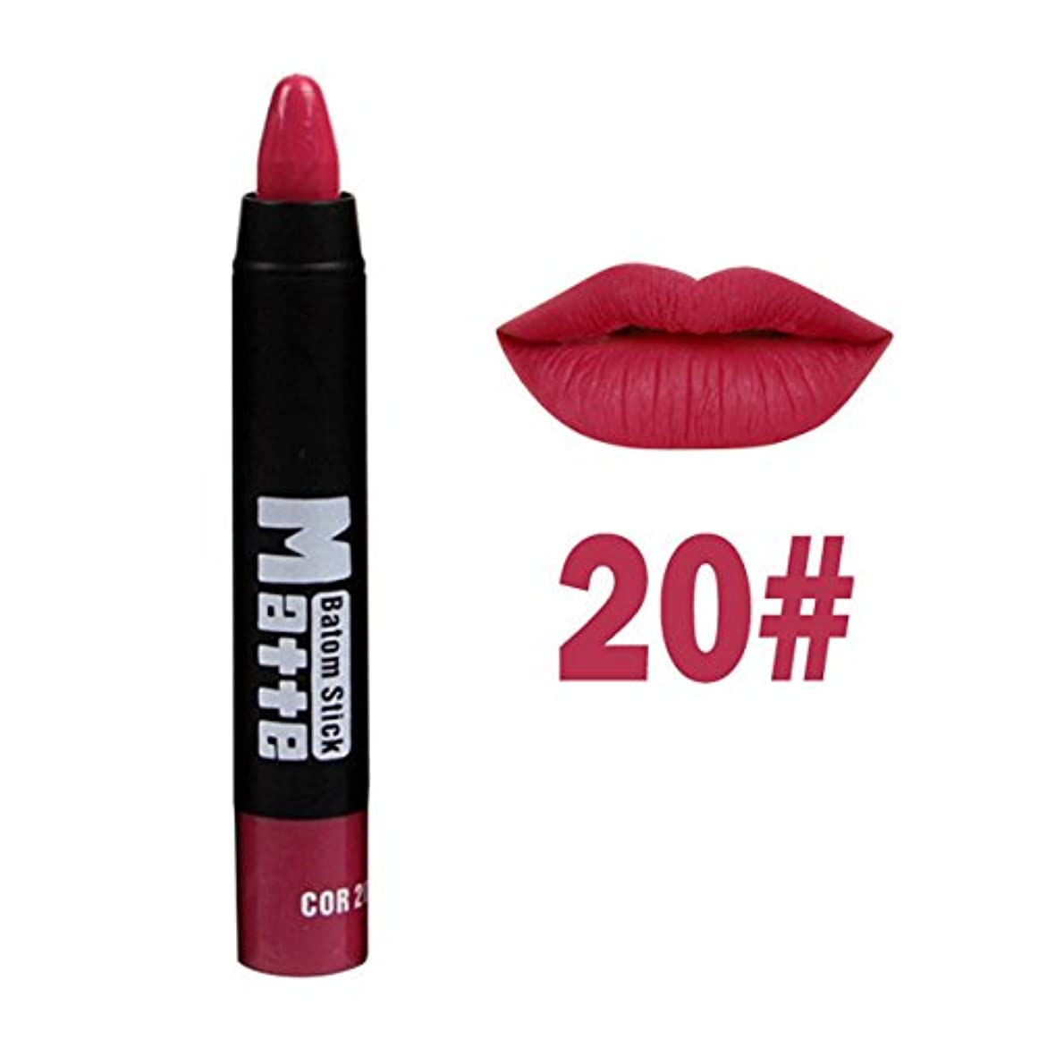 等々ベンチファイバ口紅ペン BOBOGOJP マットベルベット リップライナー リップスティックペン 多色選択 Lipstick リップグロス リップライナースティックペンシル 長続き 防水 リプリナー 唇用口紅筆メイク道具 おすすめ (E)