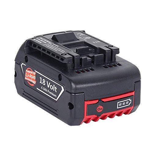 Kumall Bosch ボッシュバッテリー18v 6000mAh ボッシュ ドライバインパクトーBAT609 BAT610G BAT618 BAT619 リチウムイオン 残量表示