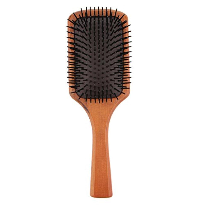 許容できる蒸気偶然木製コーム ヘアブラシ 櫛 ヘアダイコーム ヘアコーム 健康 光沢 髪 維持