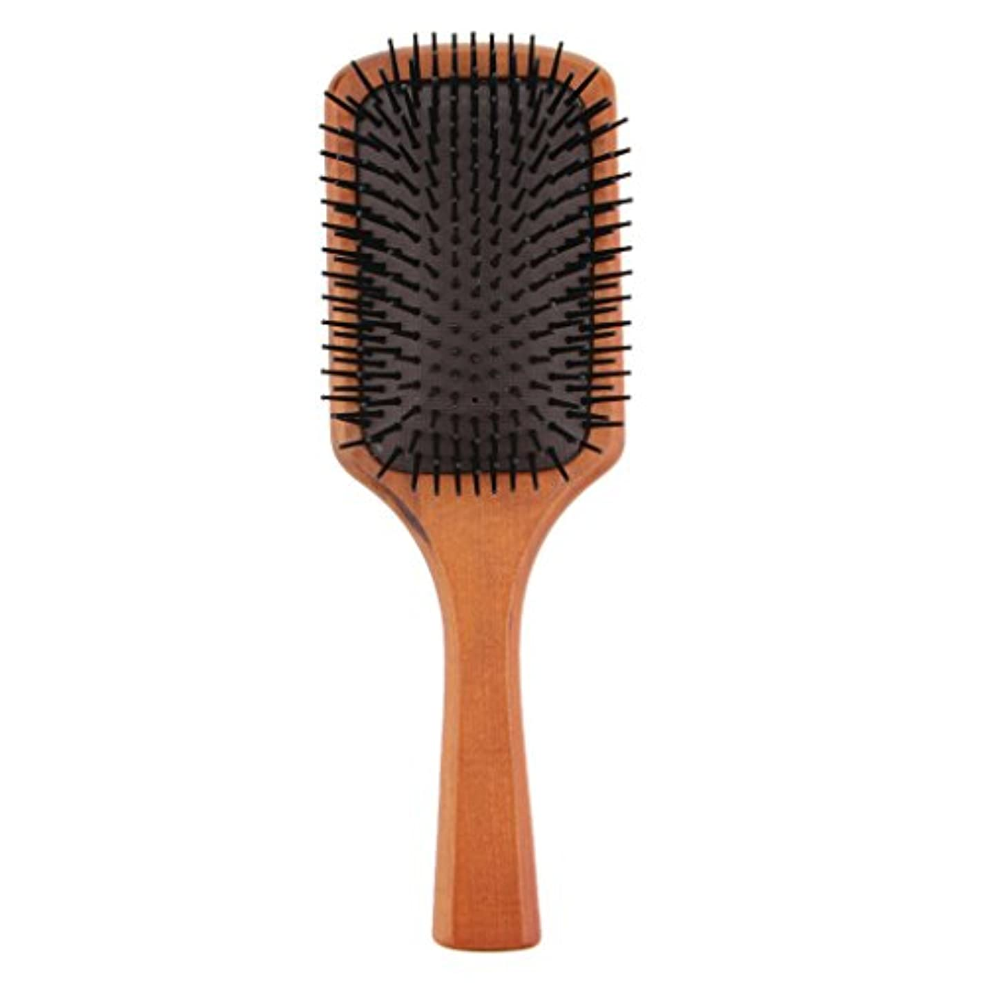 風操縦する軸木製コーム ヘアブラシ 櫛 ヘアダイコーム ヘアコーム 健康 光沢 髪 維持