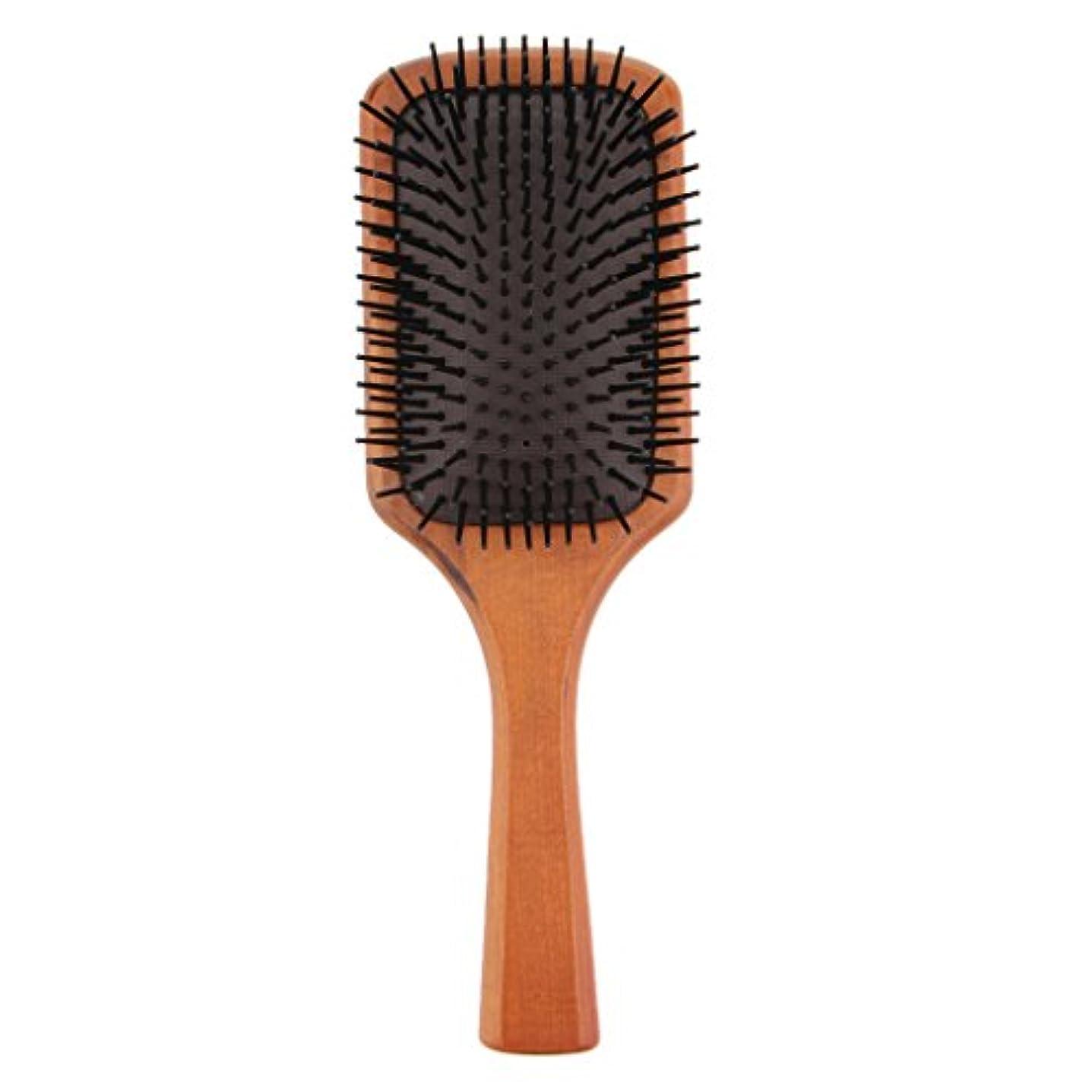 モールス信号受粉者未接続木製コーム ヘアブラシ 櫛 ヘアダイコーム ヘアコーム 健康 光沢 髪 維持