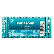パナソニック 単3形カラーアルカリ乾電池 8本パック アクアグリーン LR6LJG/8SW