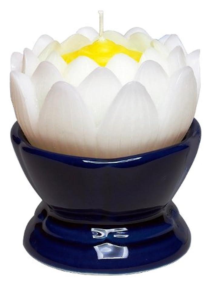 非常に着飾るグリーンランドマルエス 蓮の花 大 ホワイト 燭台付