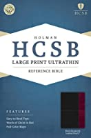 Holy Bible: Holman Christian Standard Bible, Black/Burgundy, Leathertouch, Ultrathin Reference