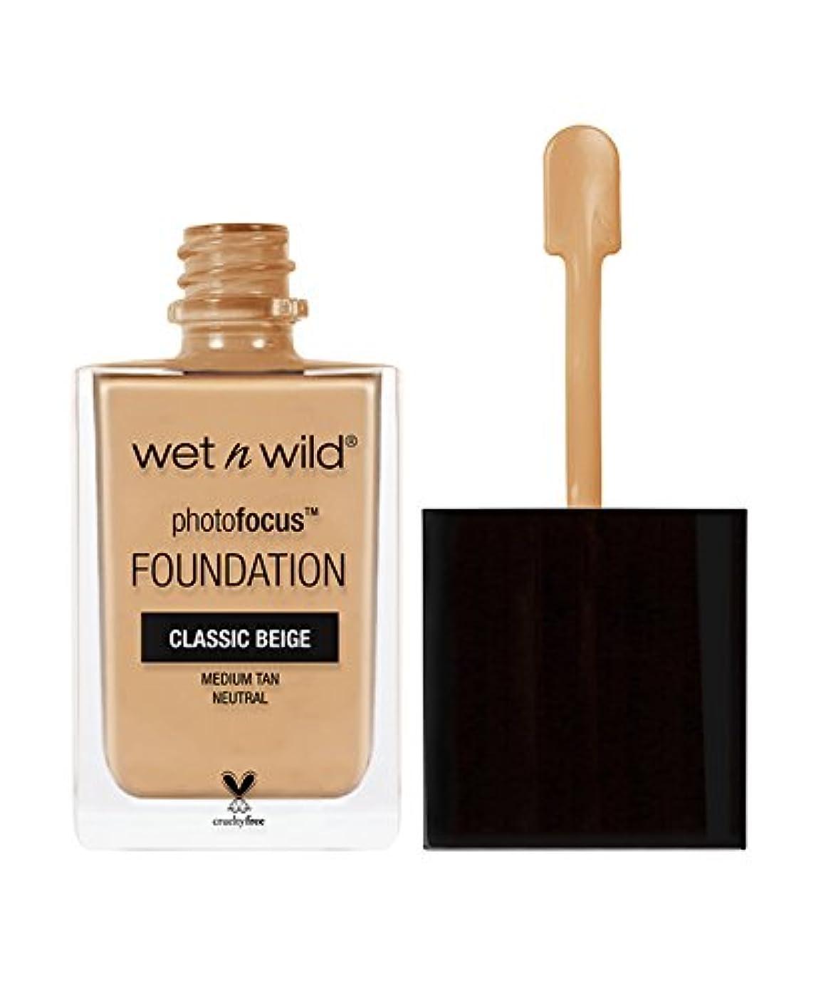 こんにちはジャングル植物学WET N WILD Photo Focus Foundation - Classic Beige (並行輸入品)