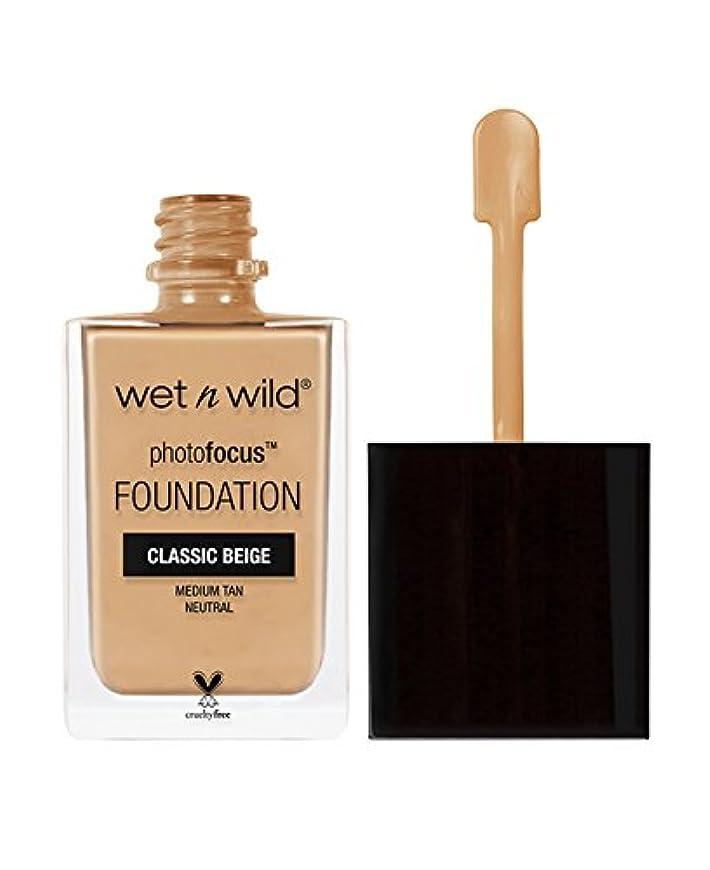 ボックス純粋な雄弁WET N WILD Photo Focus Foundation - Classic Beige (並行輸入品)