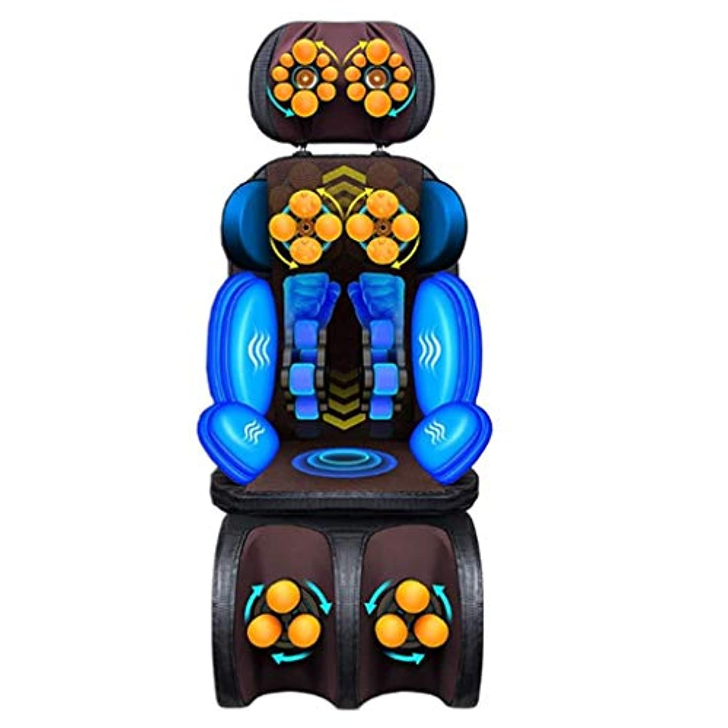 合金約経過マッサージクッション、電動全身マッサージクッションチェア、多機能振動マッサージャー、首の後ろ足と足のマッサージ、ホームオフィスの運転に適しています