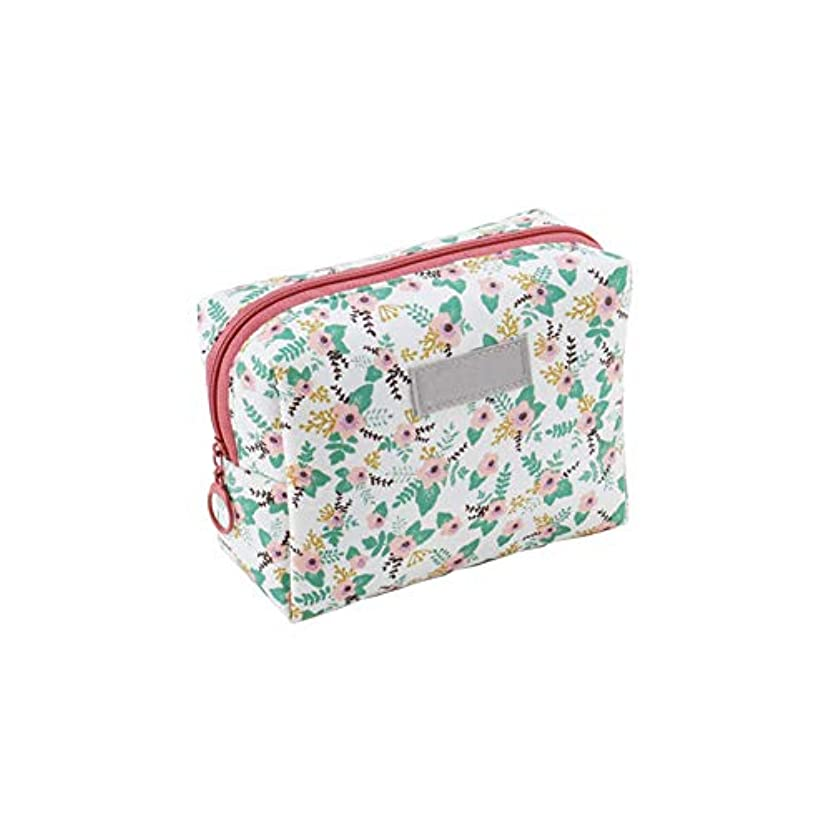 拮抗アラブ人鳴り響くポータブル手洗いバッグウォッシュバッグ旅行化粧品袋化粧バッグオーガナイザーさん男性(白、ピンクの花)