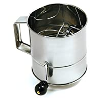 Norpro Polished 3-Cup Stainless Steel Hand Crank Sifter by Norpro