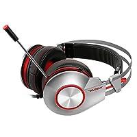 Luani ポータブルK5U音楽ステレオゲーミングヘッドフォンヘッドセットヘッドバンドマイクノイズキャンセルゲーミングゲーマーヘッドフォン