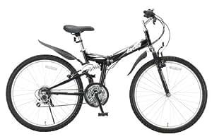 RayChell(レイチェル) 26インチ 折りたたみ マウンテンバイク MTB-2618R シマノ18段変速 Wサスペンション Vブレーキ ブラック [メーカー保証1年]