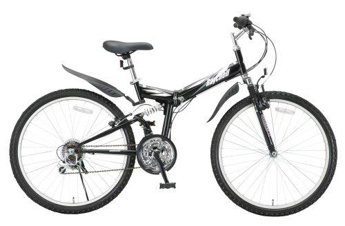 RayChell(レイチェル) 26インチ 折りたたみ マウンテンバイク MTB-2618R シマノ18段変速 Wサスペンション Vブレーキ ブラック