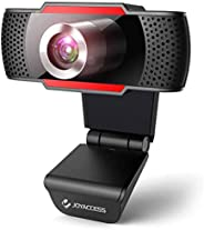 Webcam 1080P HD with Microphone,USB Desktop Laptop Webcam-Noise Reduction Mic, 105°Wide-Angle View for Streami