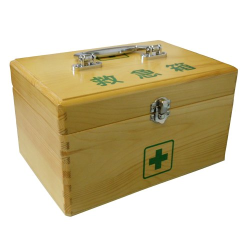 リーダー木製救急箱 Lサイズ