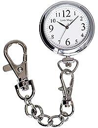 【リトルマジック】見やすい大きな文字盤 【正規品】3気圧防水 懐中時計 逆さ文字盤 長さの違う3種のチェーン 時計 ポケットウォッチ 日本製クオーツ ナースウォッチ (スタンダード)