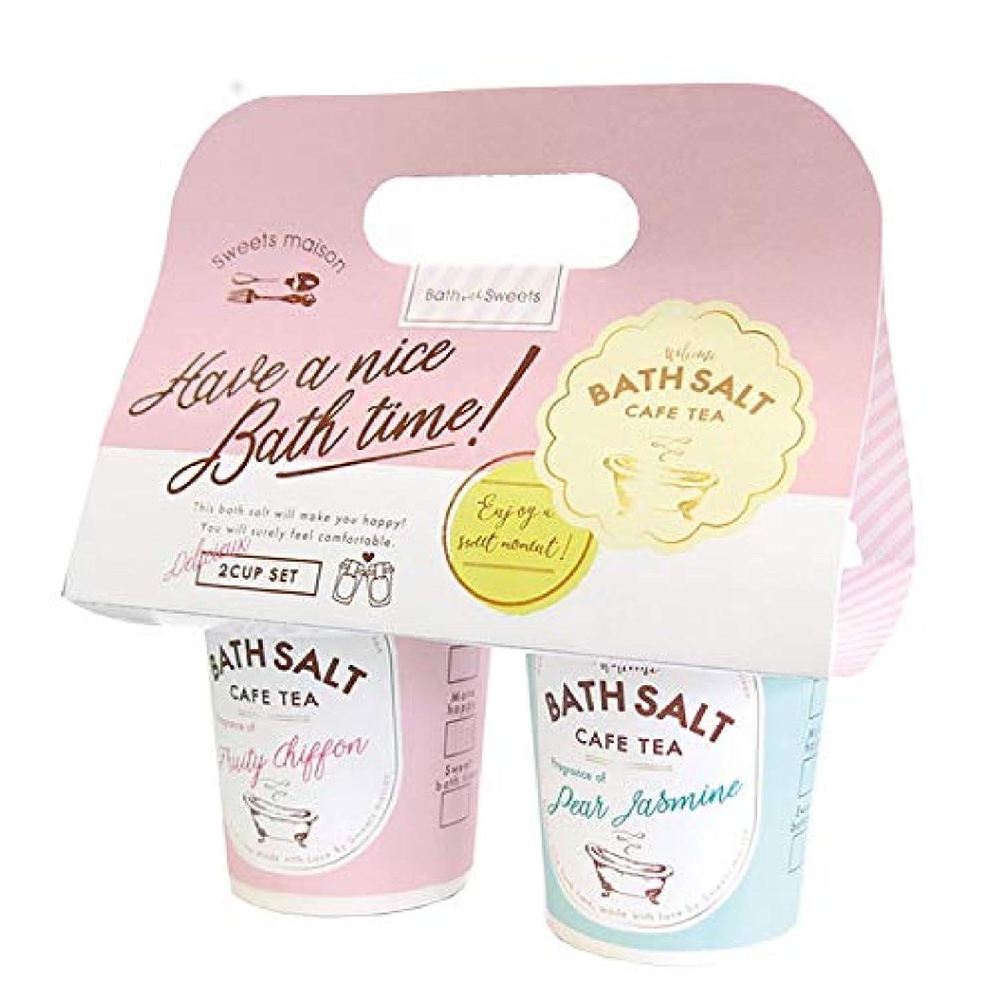 長方形ホップ海洋のノルコーポレーション sweets maison OB-SMM-49-1 カフェティーバスソルト2カップセット ギフト [297987]