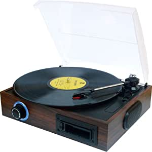 novac 【カセット&レコード→デジタル変換】カセット+レコード一体型プレイヤー NV-CR001U
