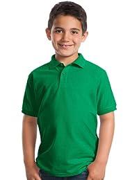 Port Authorityユースクラシックポロスポーツシャツ、ケリーグリーン、ミディアム