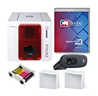 Evolis Zenius Single Sided ID Card Printer & Complete Supplies Package with Bodno ID Software [並行輸入品]