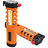 Akjia Car Safety Hammer 5-in-1 Emergency Life Saving Kit Seatbelt Cutter-Window Breaker-Emergency Rescue Kit-Essential Disaster Escape Tool-Built in Flashlight Magnet & Alarm SOS Lamp
