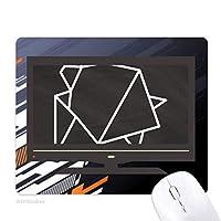 抽象折り紙カメの幾何形状 ノンスリップラバーマウスパッドはコンピュータゲームのオフィス