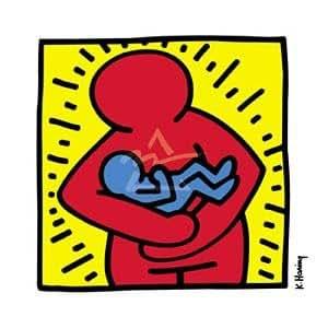 ポスター キース ヘリング Mother and Child Center 1986