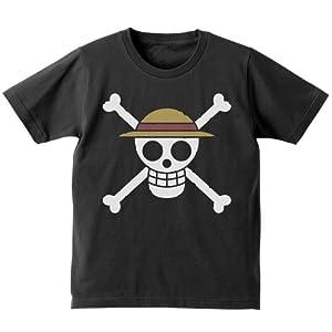 ワンピース 麦わらの一味キッズTシャツ ブラック 130cmサイズ