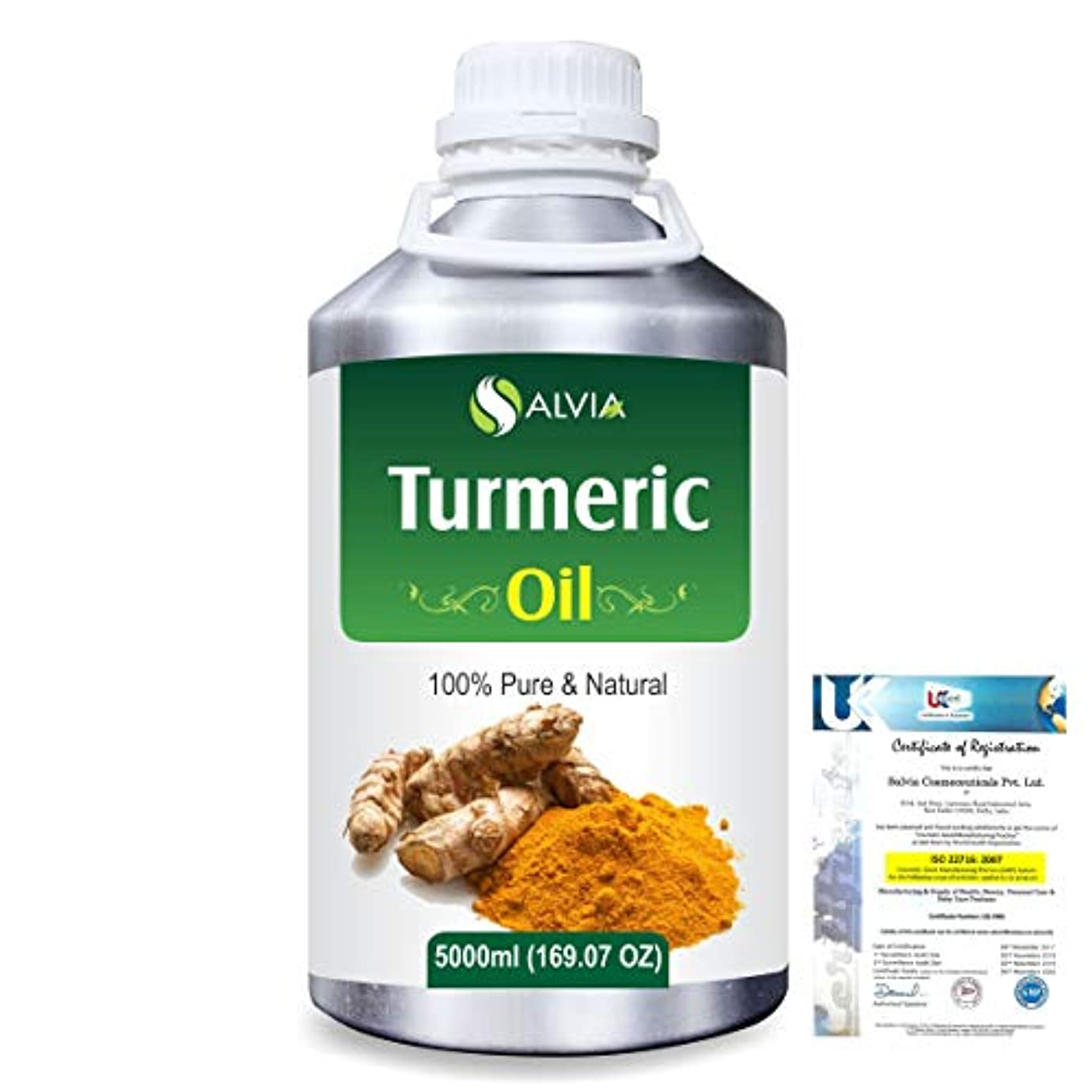 雇うサミュエル年金受給者Turmeric (Curcuma Longa) 100% Pure Natural Essential Oil 5000ml/169 fl.oz.