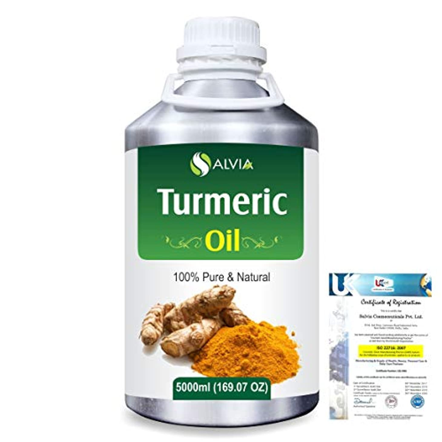 落ち着いた余剰抑止するTurmeric (Curcuma Longa) 100% Pure Natural Essential Oil 5000ml/169 fl.oz.