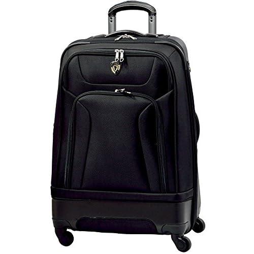 TSAロック搭載 ハーフソフト スーツケース キャリーバッグ CRUST ブラック S型(2~4日用)