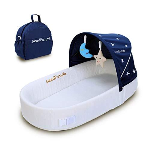 SeedFutureポータブルベビーベッド、ベビークレードル、新生児用寝具、0~10ヶ月のお子様のため