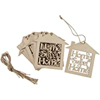 Perfk 10個 木製吊り装飾 多目的 DIY ハンガー タグ 手作り 飾り付け