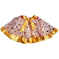 Kirei Sui Little Girls' Polka Dots Satin Trimmed Tutu