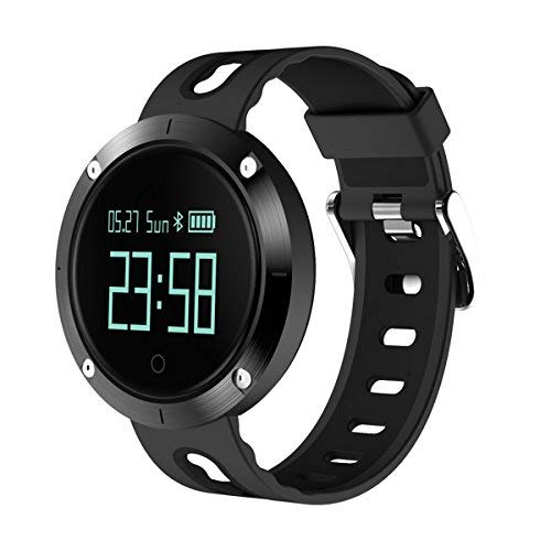 Fitness Tracker?Watch IP67 Waterproof Smart Watch with Blood Pressure and Heart Rate Monitor Sports fitness Tracker Touch Screen Pedometer with Sleep Monitor 2018 (Black) [並行輸入品]