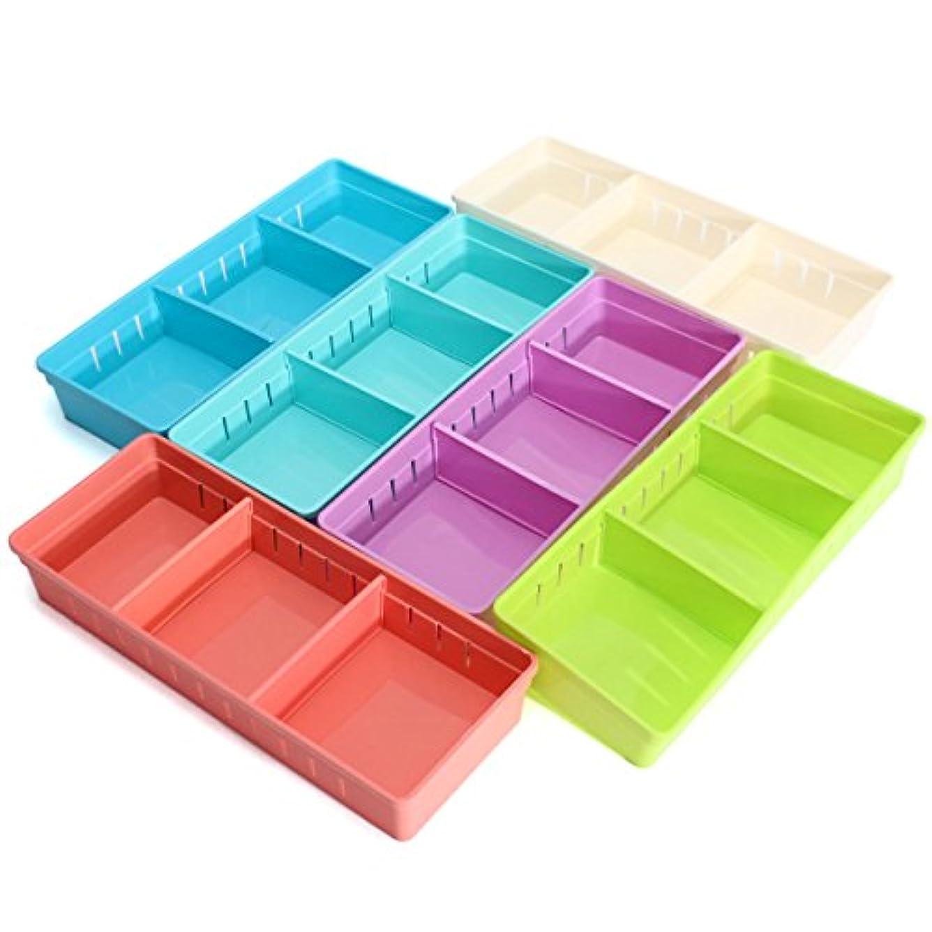 YZUEYT 調整可能なメイクアップ収納ボックス引き出しホームキッチンオフィスSupplie鉛筆ジュエリーオーガナイザー YZUEYT (Color : Color Yellow)