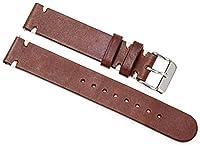 イタリアンレザー 本革 時計 ベルト 腕時計 バンド ブラウン 20mm