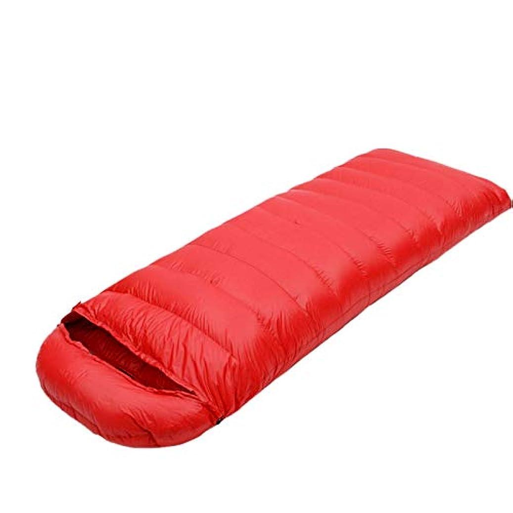 苛性論争的ペネロペWJNKGHG 冬用 寒冷 保温 大人用 レギュラー 95%ホワイトグースダウン 寝袋 袋 キルト フード付き バックパッキング キャンプ ハイキング用