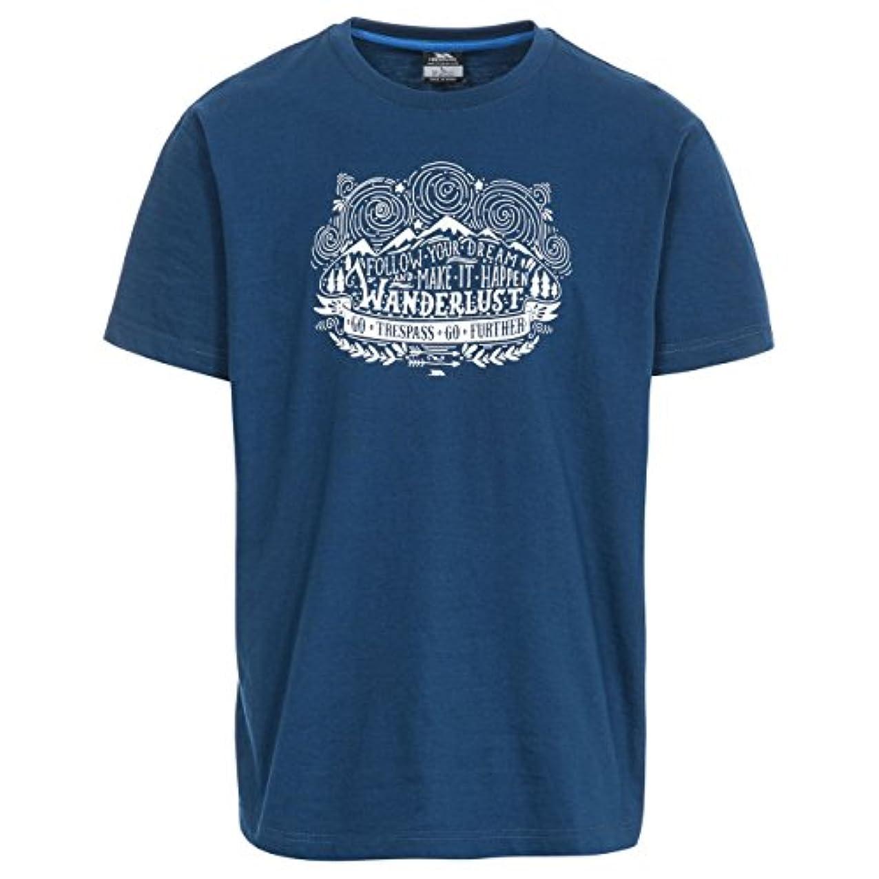 海里ロデオジョージハンブリー(トレスパス) Trespass メンズ Hainey プリント 半袖 Tシャツ 夏