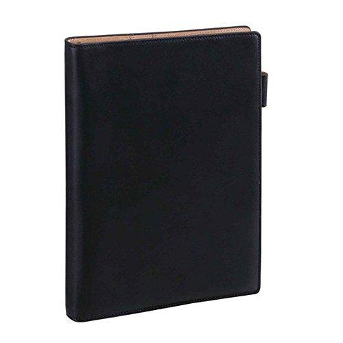 ダ・ヴィンチグランデ アースレザー A5サイズシステム手帳 リング15mm JDA154 B [ブラック]