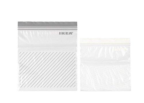 IKEA ISTAD プラスチック袋(グレー&ホワイト)