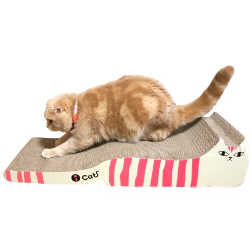 RoomClip商品情報 - iCat アイキャット オリジナル つめとぎ しまネコロング イエローグリーン 猫 つめとぎ