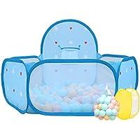 ボーイズボールピットPlaypen幼児遊びテント海ボールプールミニバスケットボールのフープ、屋内屋外子供の安全再生センターヤード、ブルー (サイズ さいず : 400 balls)