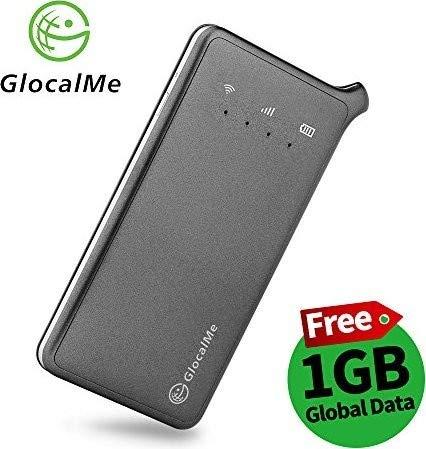 GlocalMe U2 モバイル WiFiルーター 1GB分のグローバルデータパック付き 高速4G LTE ポケットWiFi SIMフリー グローバル対応 フリーローミング 国内・海外旅行最適 iPhone・Xperia・HTC・Galaxy・iPadなど全機種対応 超軽くて携帯便利 (グレー)