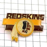 限定 レア ピンバッジ アメフト/USAワシントンレッドスキンズ羽根飾り ピンズ フラン