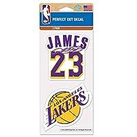 Wincraft ステッカー NBA レブロン・ジェームズ ロサンゼルス・レイカーズ #23 背番号とチームロゴ [並行輸入品]